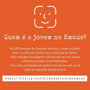 QUESTIONÁRIO BUSCA CONHECER O PERFIL DO JOVEM DE EMAÚS